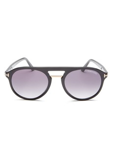 Tom Ford Men's Ivan Flat Top Round Sunglasses, 54mm