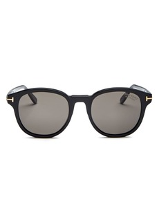 Tom Ford Men's Jameson Polarized Round Sunglasses, 52mm