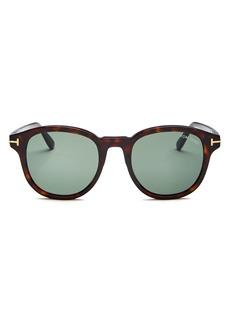 Tom Ford Men's Jameson Round Sunglasses, 52mm