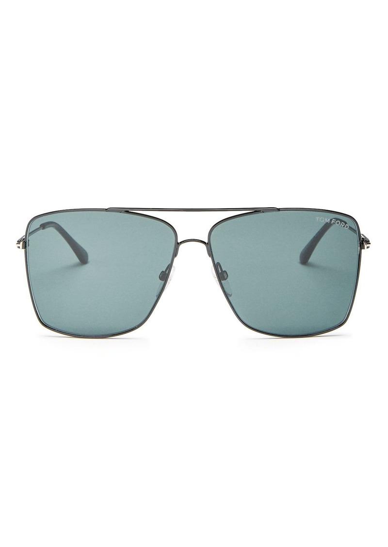 Tom Ford Men's Magnus Brow Bar Aviator Sunglasses, 60mm