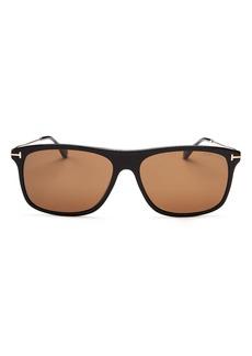 Tom Ford Men's Max Square Sunglasses, 57mm