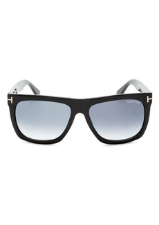 Tom Ford Men's Morgan Flat Top Square Sunglasses, 55mm