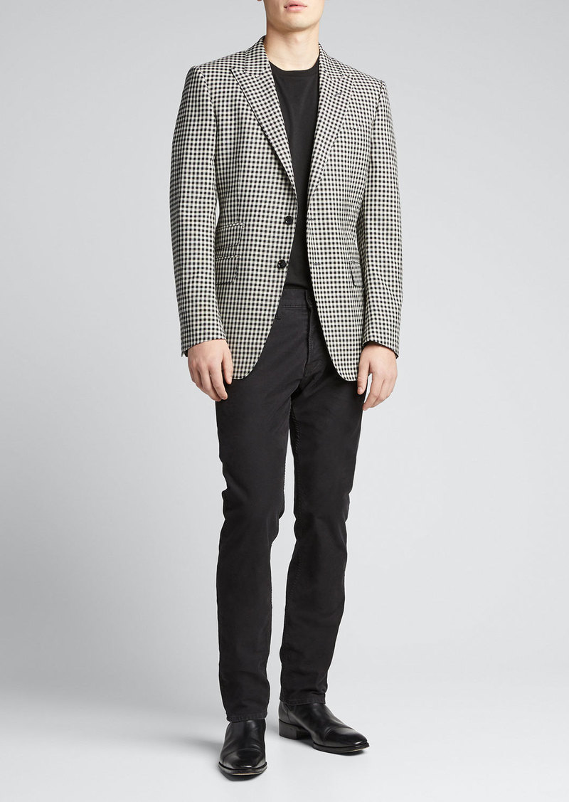TOM FORD Men's O'Connor Fresco Damier Sport Jacket