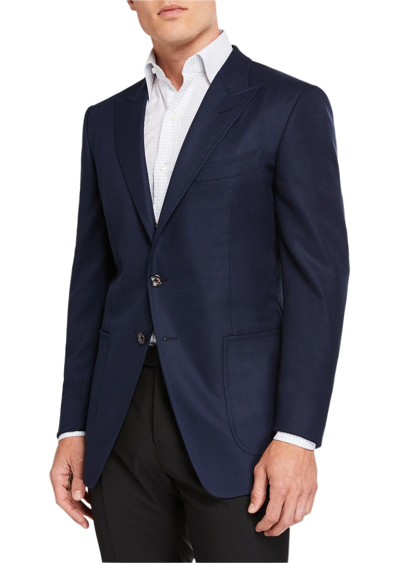 TOM FORD Men's O'Connor Hopsack Patch-Pocket Jacket