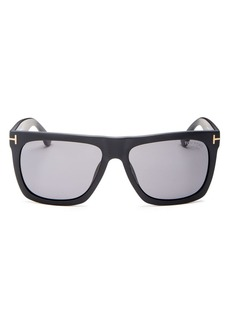 Tom Ford Men's Morgan Polarized Flat Top Square Sunglasses, 57mm