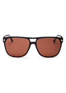 Tom Ford Men's Shelton Brow Bar Square Sunglasses, 59mm