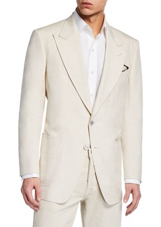 TOM FORD Men's Shelton Patch-Pocket Silk Jacket