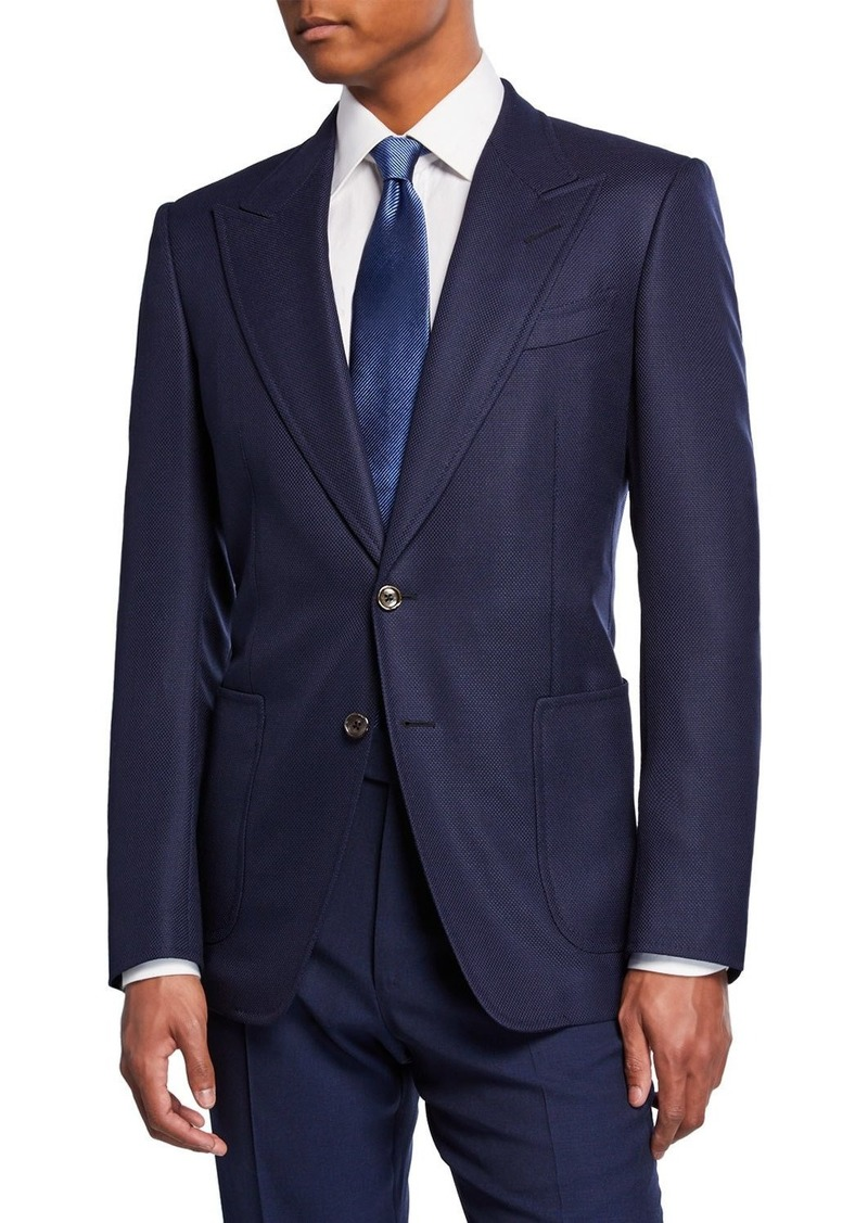TOM FORD Men's Shelton Peak-Lapel Two-Button Jacket