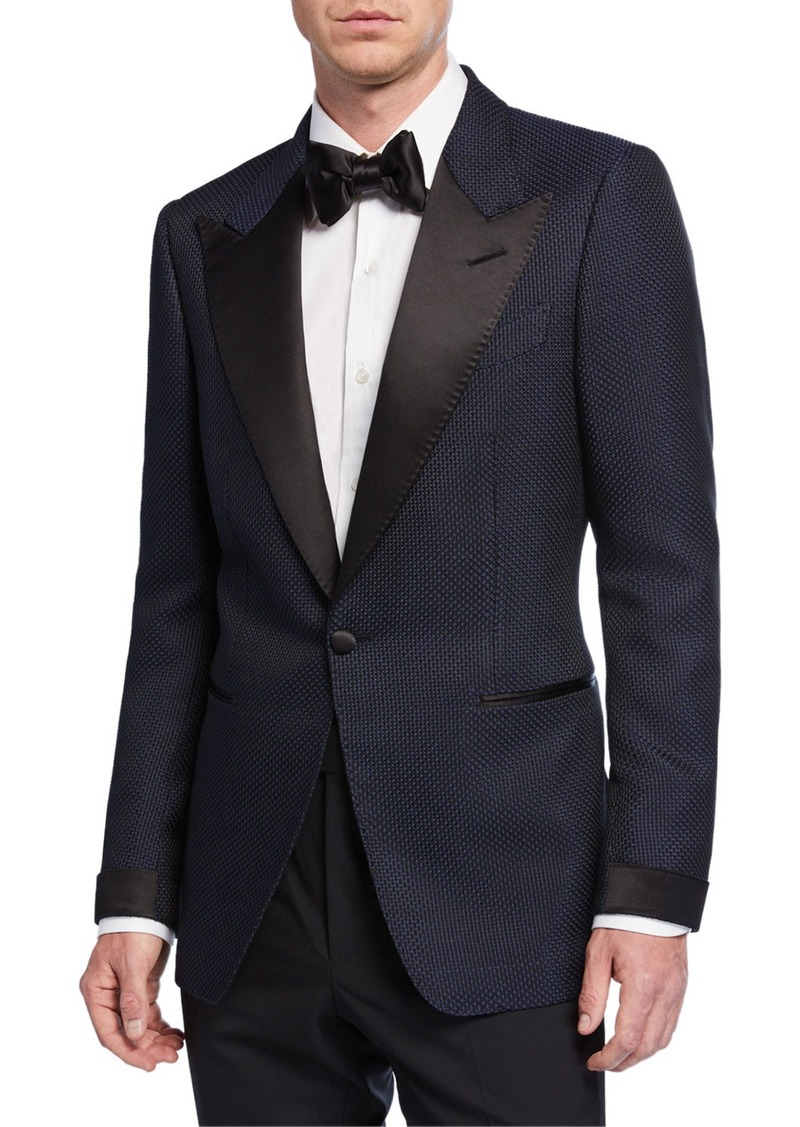 TOM FORD Men's Shelton Textured Evening Jacket