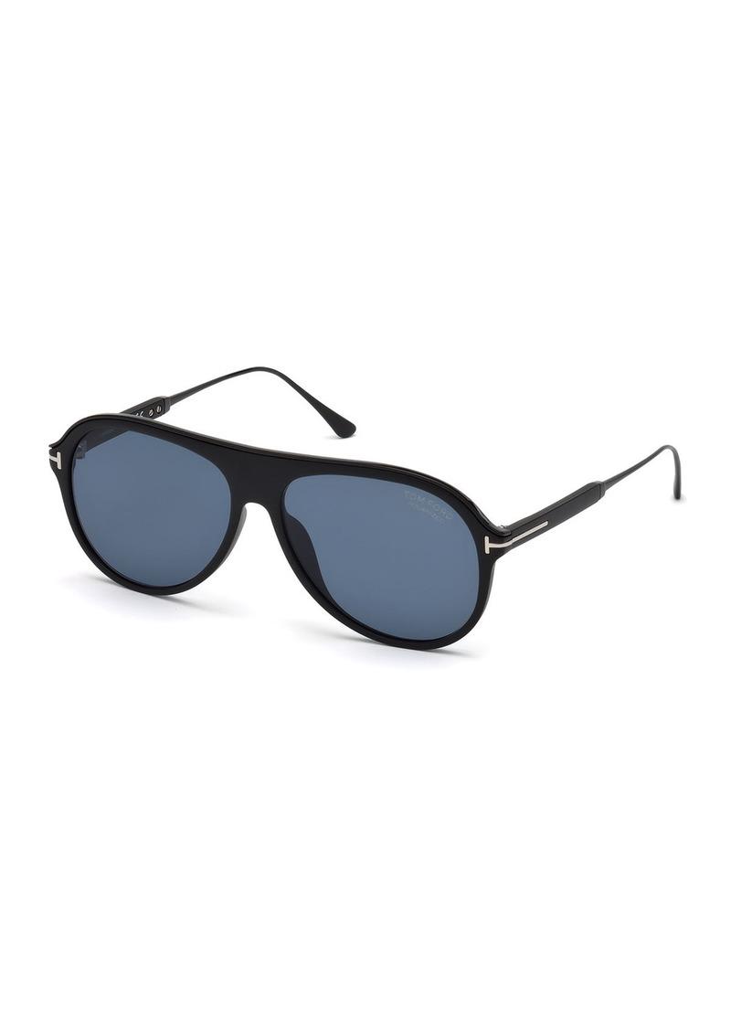 TOM FORD Men's Shield Acetate Sunglasses