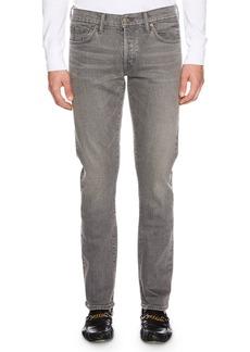 TOM FORD Men's Straight-Fit Stretch-Denim Jeans  Gray