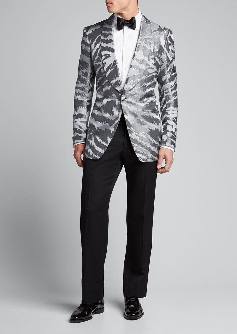 TOM FORD Men's Textured Zebra Jacquard Dinner Jacket