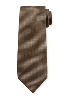 TOM FORD Men's Tonal Dot Silk-Blend Tie