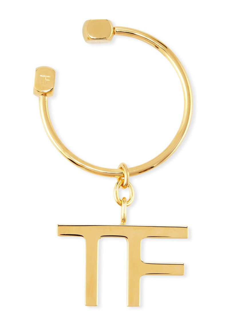 TOM FORD Metal TF Logo Keychain