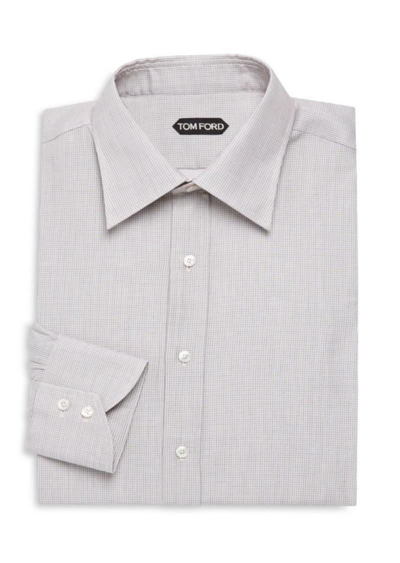 Tom Ford Micro-Check Cotton Dress Shirt