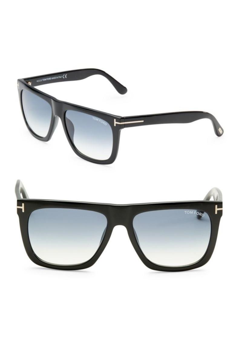 f28b32c84a Tom Ford Morgan 57MM Soft Square Sunglasses