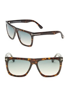 Tom Ford Morgan 57MM Soft Square Sunglasses