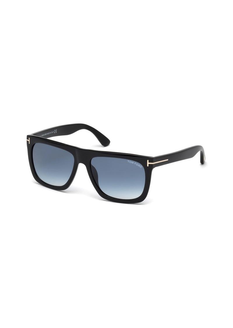 TOM FORD Morgan Thick Square Acetate Sunglasses  Black