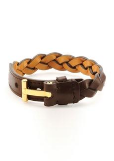 TOM FORD Nashville Men's Braided Leather Bracelet