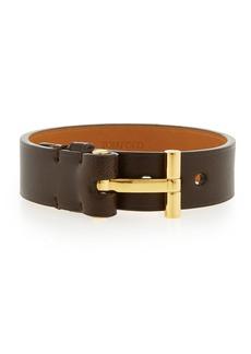 TOM FORD Nashville Men's Leather Bracelet  Brown
