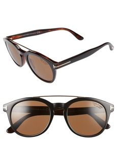 Tom Ford Newman 53mm Polarized Sunglasses