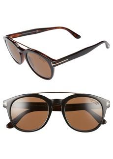Tom Ford Newman 53mm Polarized Sunglasses