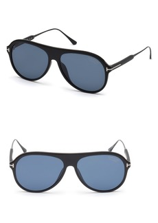 Tom Ford Nicholai-02 57mm Polarized Sunglasses