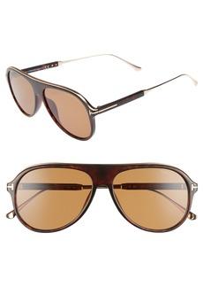 Tom Ford Nicholai 57mm Aviator Sunglasses