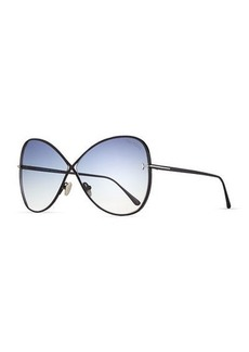 TOM FORD Nickie Metal Butterfly Sunglasses