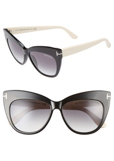Tom Ford Nika 56mm Gradient Cat Eye Sunglasses