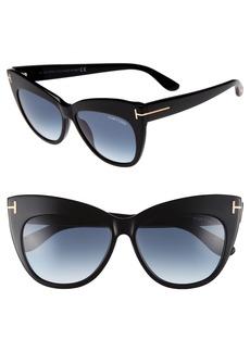 Tom Ford Nika 56mm Gradient Cat Eye Sunglasses
