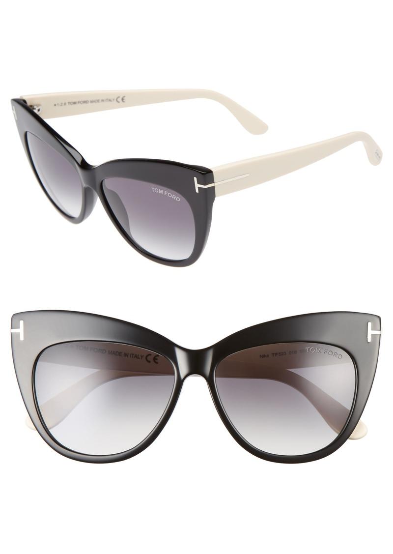 b23e5e6ed7 Tom Ford Tom Ford Nika 56mm Gradient Cat Eye Sunglasses