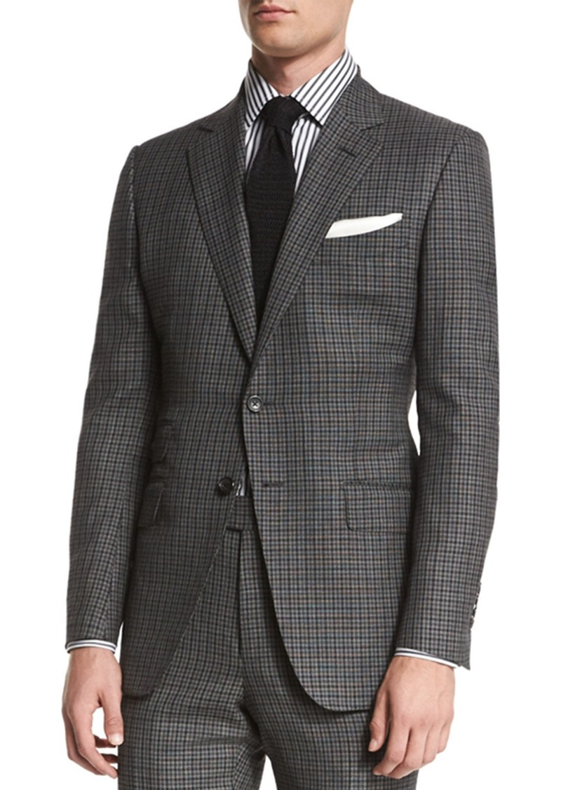 Tom Ford Tom Ford O Connor Base Bicolor Gingham Two Piece Suit Suits