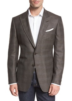 TOM FORD O'Connor Base Glen Plaid Two-Button Sport Coat