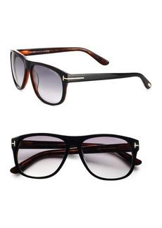 Tom Ford Olivier Oversized Square Acetate Sunglasses