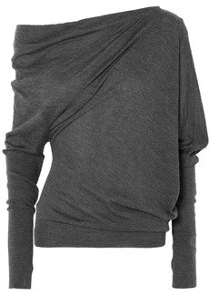 Tom Ford One-shoulder Cashmere And Silk-blend Sweater