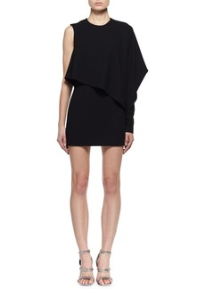 TOM FORD One-Sleeve Cashmere Cocktail Dress