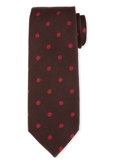 TOM FORD Open Dot Silk-Wool Tie