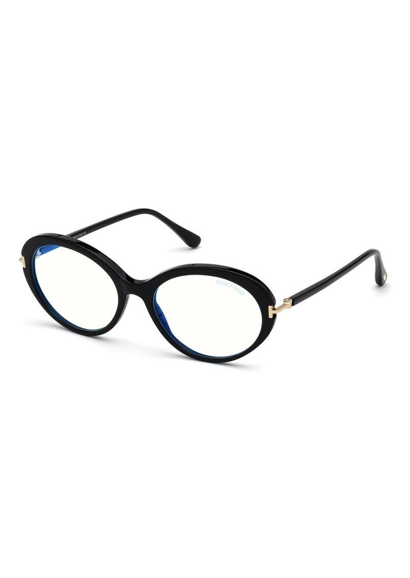TOM FORD Oval Acetate Optical Frames