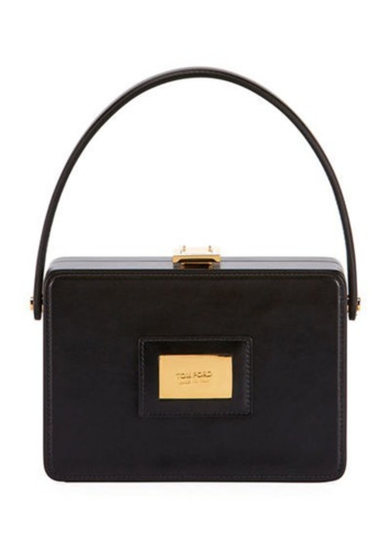 TOM FORD Palmellato Leather Box Bag