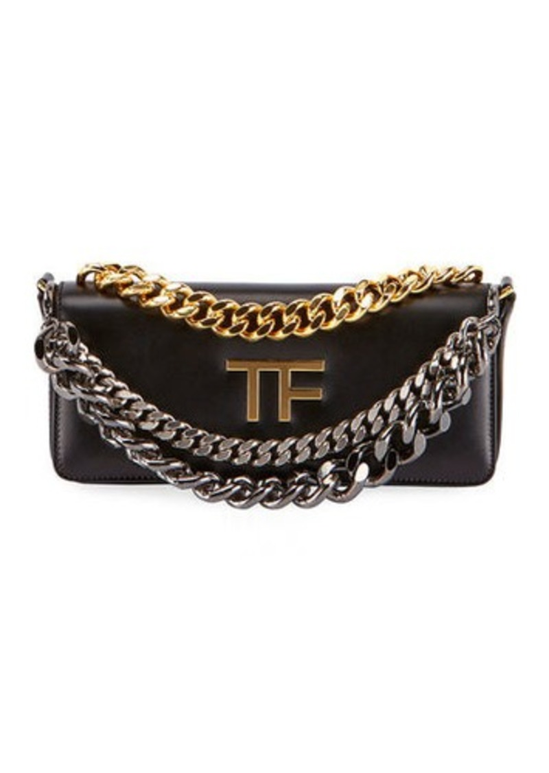 TOM FORD Palmellato TF Leather Shoulder Bag