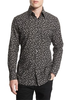 TOM FORD Pansy-Printed Slim Sport Shirt