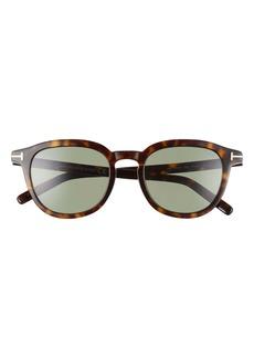 Tom Ford Pax 51mm Round Sunglasses