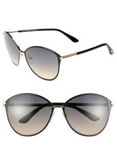 Tom Ford Penelope 59mm Gradient Cat Eye Sunglasses