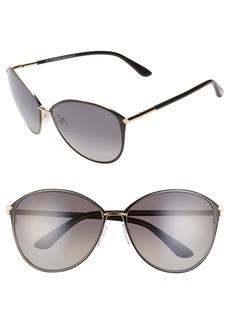 Tom Ford Penelope 59mm Polarized Gradient Cat Eye Sunglasses