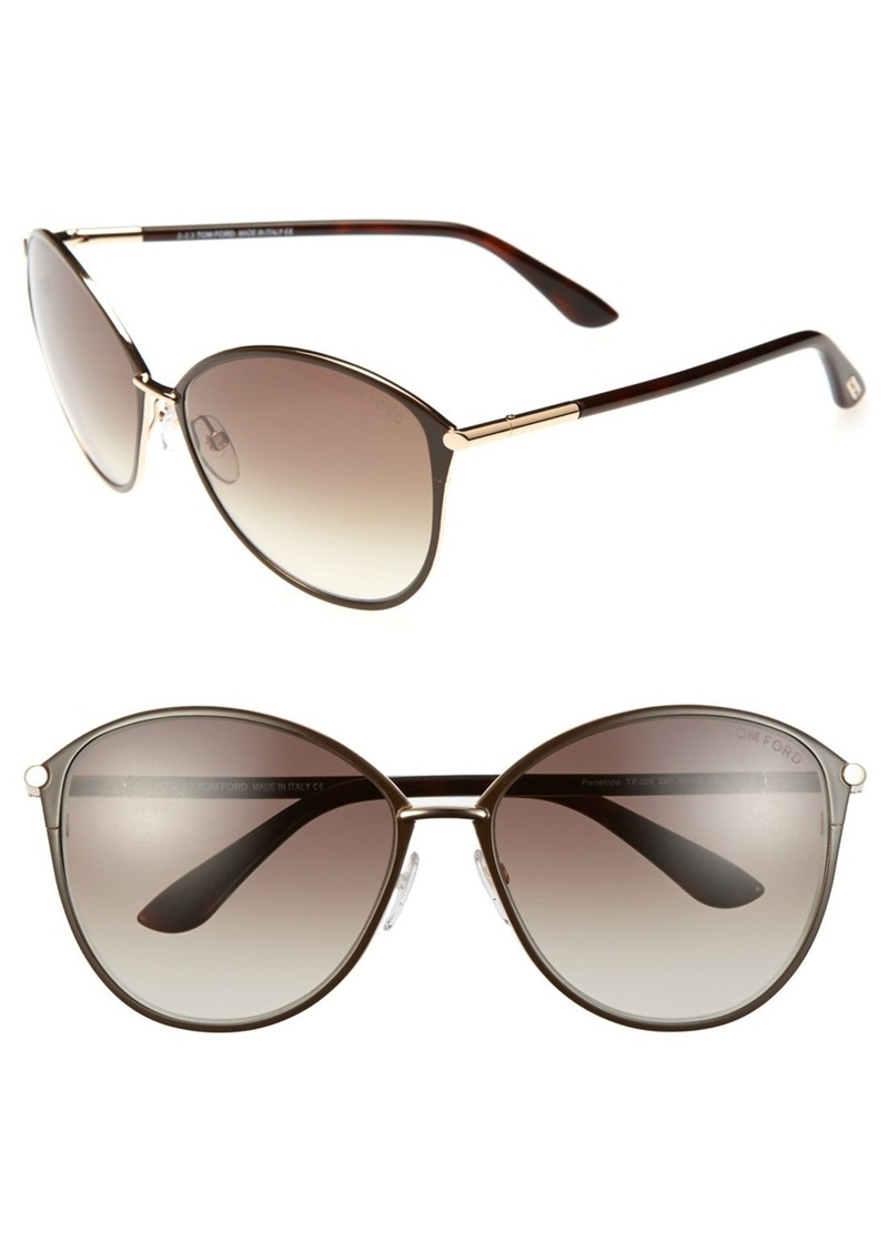 Tom Ford Penelope 59mm Gradient Cat Eye Sunglasses