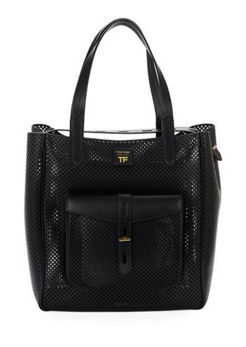 TOM FORD Perforated Medium Tote Bag