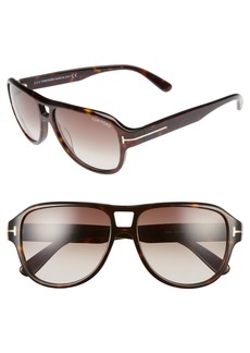 Tom Ford Philippa 55mm Gradient Round Aviator Sunglasses
