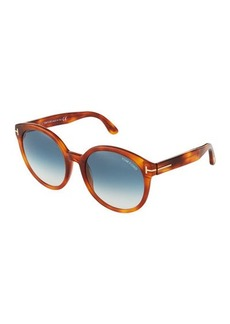 TOM FORD Philippa Havana Acetate Sunglasses