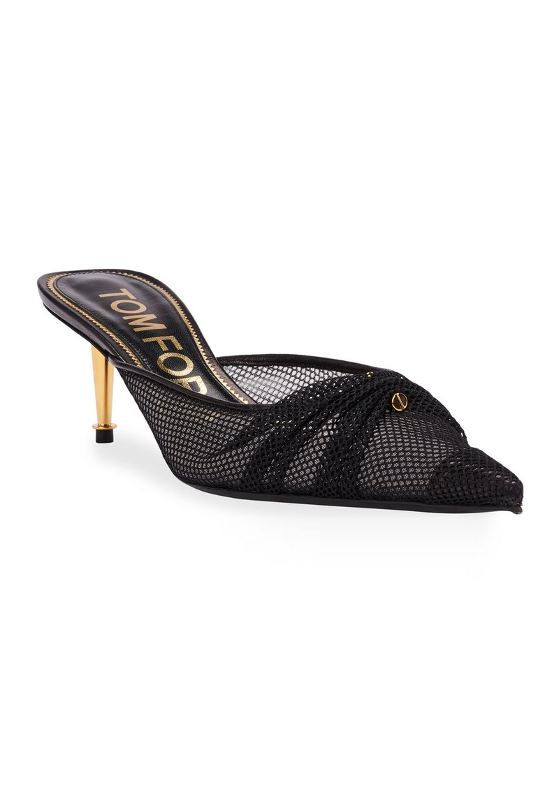 TOM FORD Piercing Mesh Pointed Mules